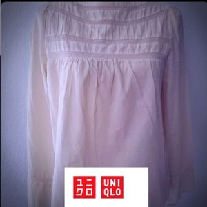 Uniqlo cream blouse